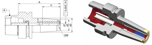 Diebold收缩夹头HSK-E50