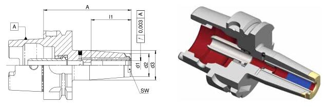 Diebold 收缩夹头HSK-A40 MMS
