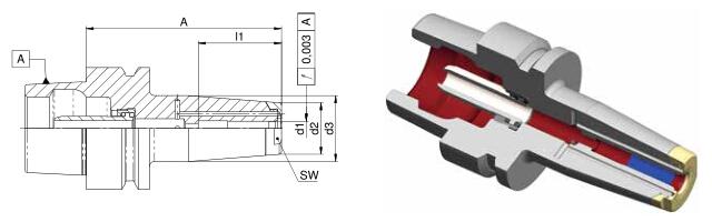 Diebold收缩夹头HSK-E50 MMS