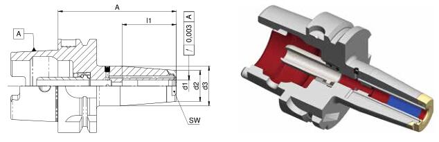 Diebold收缩夹头HSK-A63