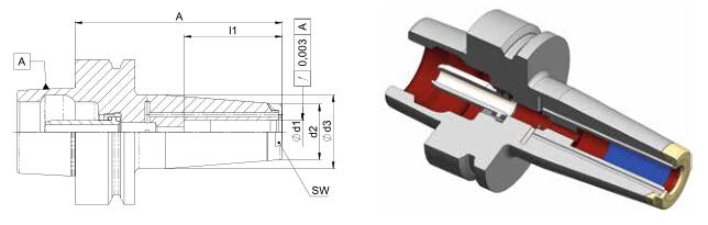 Diebold收缩夹头HSK-F63 MMS