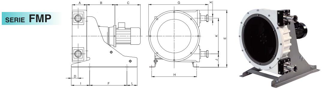 意大利OMAC蠕动泵FMP系列尺寸图