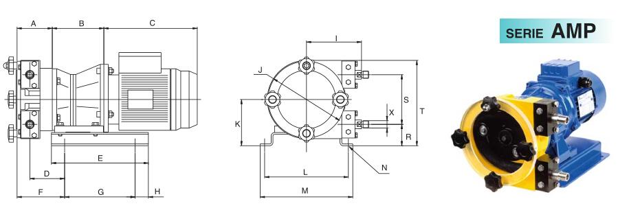 意大利OMAC蠕动泵AMP系列尺寸