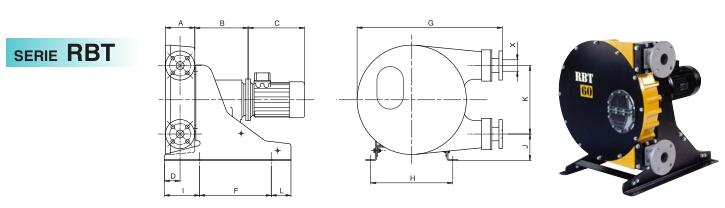 意大利OMAC蠕动泵RBT系列尺寸